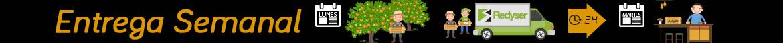 Entregas de productos recién cogidos del árbol